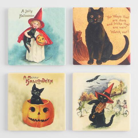 Halloween vintage coaster